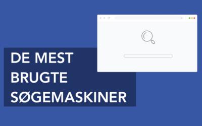 Hvad er de mest brugte søgemaskiner?